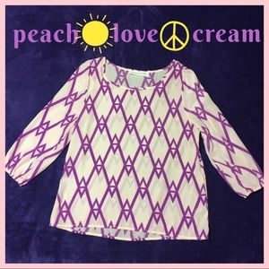 PEACH LOVE CREAM Geo Top